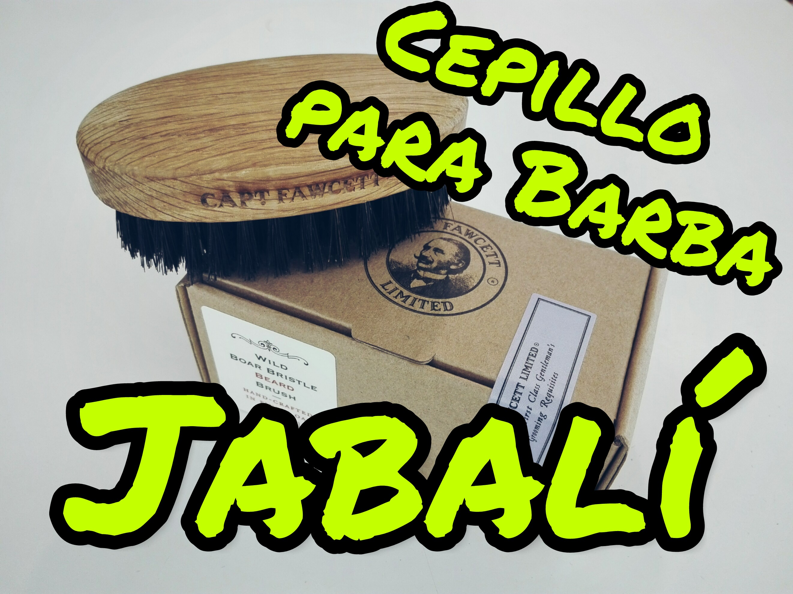 Unboxing Cepillo para barba Captain Fawcett Jabalí