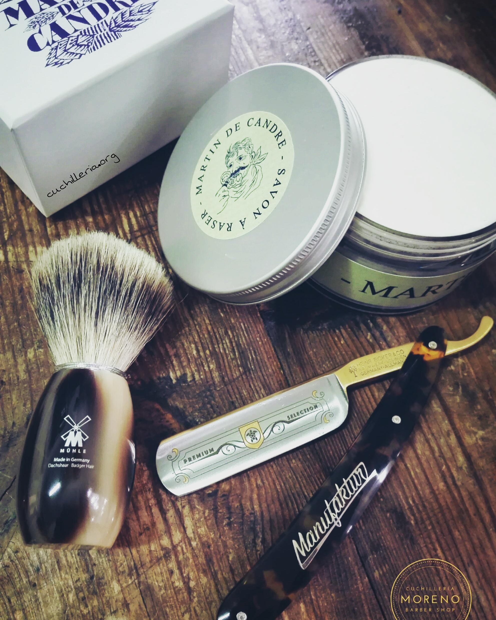Navaja de afeitar Boker Concha Oro 24K